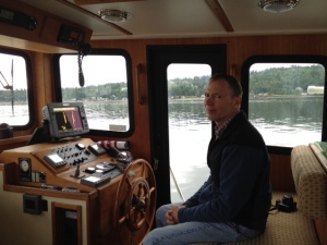 Bill at the helm