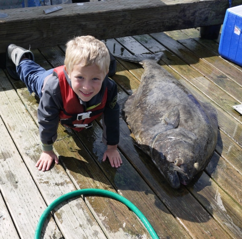 wrangell boy and halibut