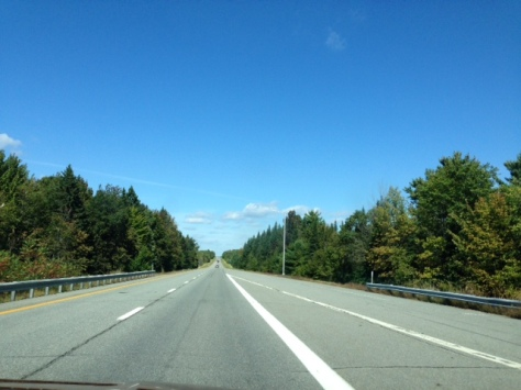 driving down the highway